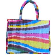 Rainbow Silk Ikat Tote image