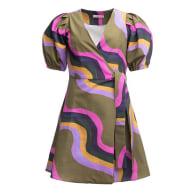 PONTY Puff Sleeve Dress 'Waves' image