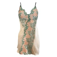 Grace Embroidered Tulle & Silk Bias Slip image