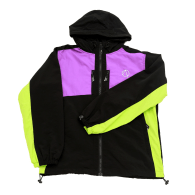Quigley Windrunner Jacket In Black Purple And Neon image