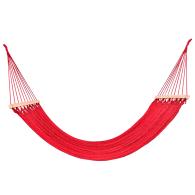 Classic Red Cotton Hammock (Teak Wooden Bar) image