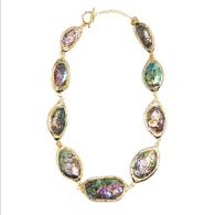 Ula 18K Gold-Plated Abalone Necklace image