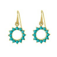 Halo Radiance Earrings - Gold image