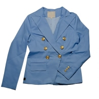 Sky Blue Women's Organic Double Breasted Blazer image