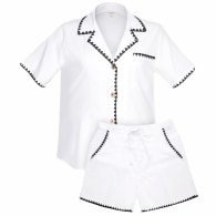 Braided Linen Set - White image