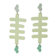 Sea Floor Statement Earrings - Foggy Green image