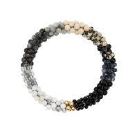 Beaded Gemstone Bracelet - Monotone Ombre & Gold image