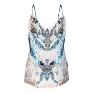 Silk Camisole - Marble Print image