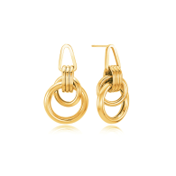 Eclipse Solar Earrings Yellow Gold image