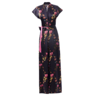 Silk Semi-Casual Dress, Deep Purple - Paris 1927 image