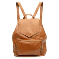Protege Leather Mini Backpack In Caramel image