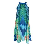 Halterneck Dress Blue Spiral image