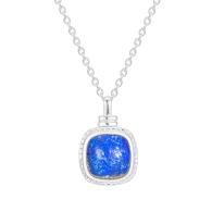 Ecoated Sterling Silver Lapis Lazuli Medallion Necklace image