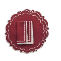 Abigail Burgundy Placemat & Napkin - Red image