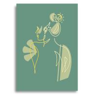 Foil Line Drawing Postcard - Hannah image