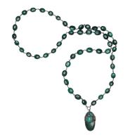 Emerald, Chrysocolla & Chrysoprase Necklace image