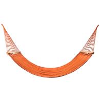 Vivid Orange Cotton Hammock (Teak Wooden Bar) image