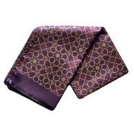 Silk Scarf in Mosaic Pattern - Brown image