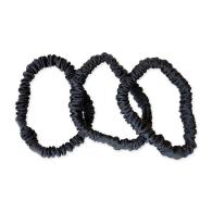 Charcoal Slim Hair Ties Set image