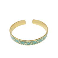 Signature Gold Turquoise Resin Bracelet image