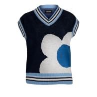 Navy Blue Knitwear One Love Vest image