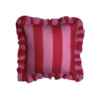 Cerise & Fuchsia Extra Wide Stripe Cushion Cover image