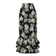 Ayar Ruffled Black Skirt image