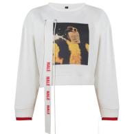 "Cream Nalè ""Ode To Home I"" Asymmetric Sweater & Jogger Set image"