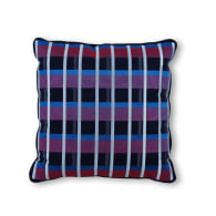 Scatter Cushion Navy Grid 'S009' by Duo-Hue. image