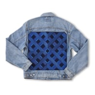 Vintage Embroidered Levis Denim Jacket 'Washed Blue' by Duo-Hue image