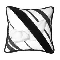 Nude Black Cotton & Velvet Cushion image