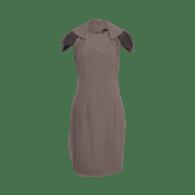 The Zip Collar Dress - Grey image