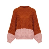 Lucy Cable Jumper Rust image