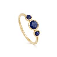 Stilla Triple Lapis Lazuli Ring in Yellow Gold Vermeil image