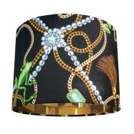 Tiana Antique Velvet Lampshade- Small image