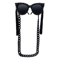 The Beatnik Rhinestone Sunglasses image
