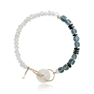 Mist Necklace With Vintage Coconut Beads - Limited Edition image