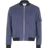 Midnight French Blue Bomber Jacket image