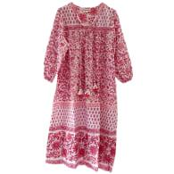 Pink Block Print Dress image