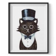 Dapper Cat Giclée Print image