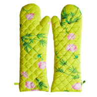 Quilted Oven Mitts - Yellow Multi image