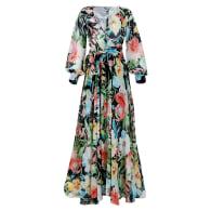 Lilypad Maxi Dress - Black & Green image