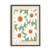 Smile Sunflowers Florals 50cm x 70cm Artwork Poster Regular price image