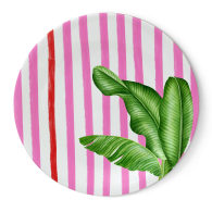 Miami Pink Beach Collection Melamine Dinner Plate Set of 4 image