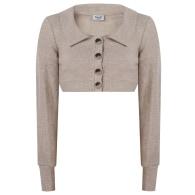 Open Back Blouse & Skirt Co-Ord - Cream image