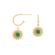 Goldplated Eclectic Small Eklipse Hoops image