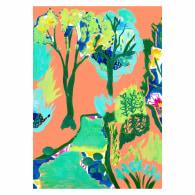 Summer Italian Villa Art Giclée Print A4 image