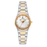 Jacques Du Manoir Swiss Made Viola Watch 28mm Yellow Gold Two Tone Case And Bracelet image