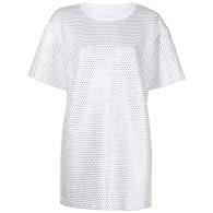 White Rhinestoned Tee Dress image
