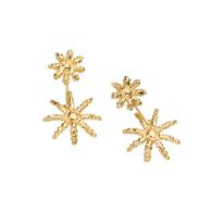 Blue Octocoral Double Drop Earrings - 18K Vermeil image